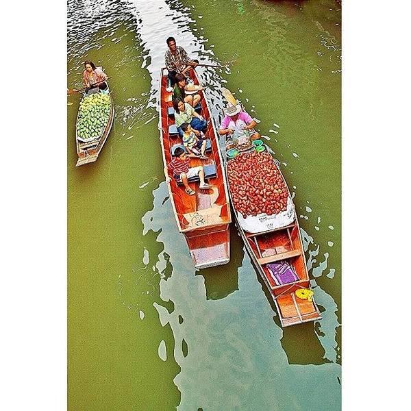 Damnoen Saduak Floating Market Bangkok Poster
