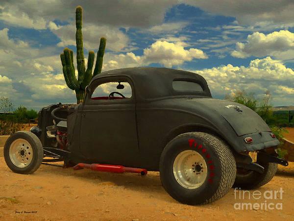 Desert Hot Rod Poster