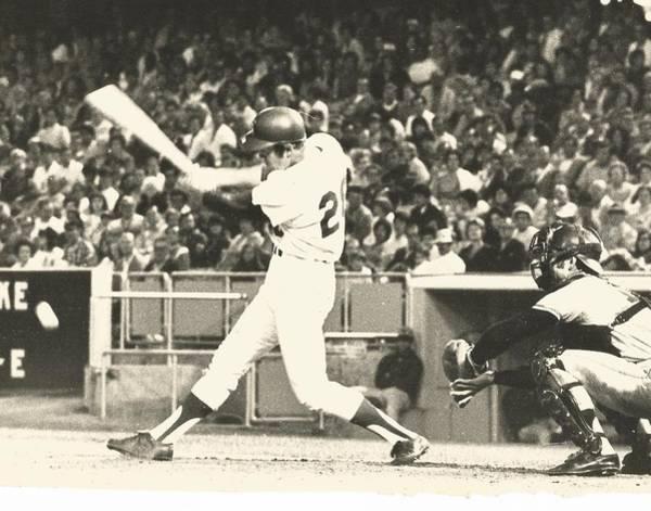 Dodger Wes Parker Batting At Dodger Stadium Poster
