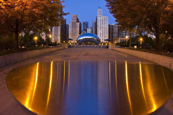 down the aisle toward Cloudgate Poster