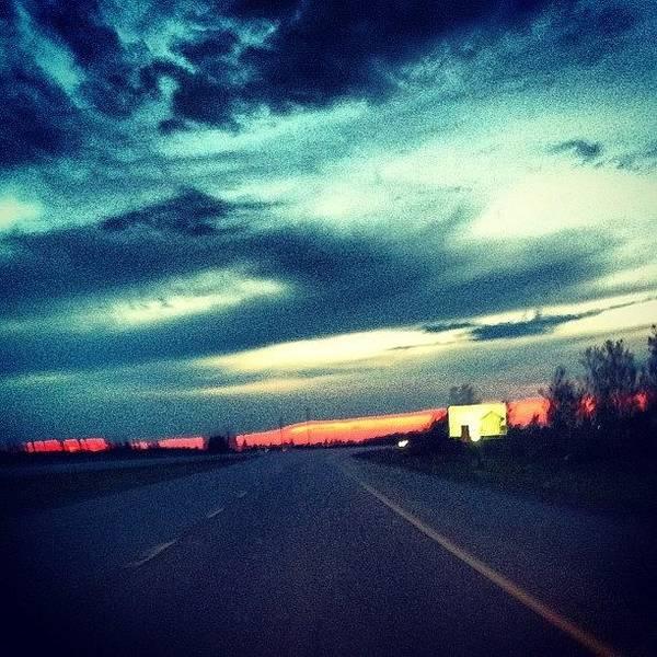 #driving #highway #road #sky #skyporn Poster