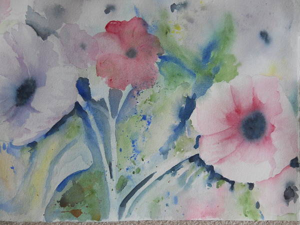 Faded Poppies Poster