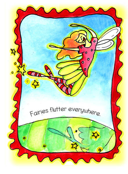 Fairies Flutter Everywhere Poster