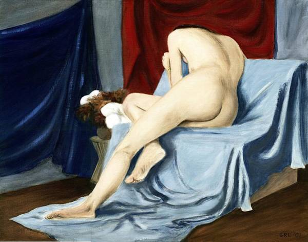 Poster featuring the painting Fine Art Female Nude 2001 by G Linsenmayer