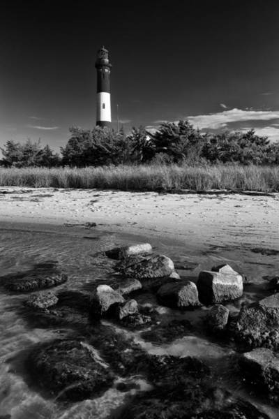 Fire Island In Black And White Poster