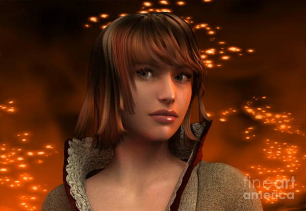 Fire Lady 3d Poster