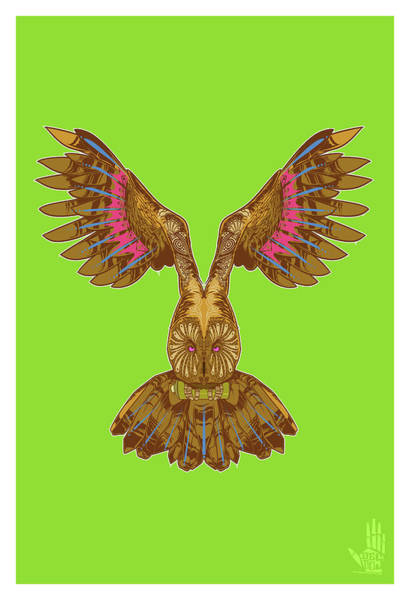 Flying Owl Poster