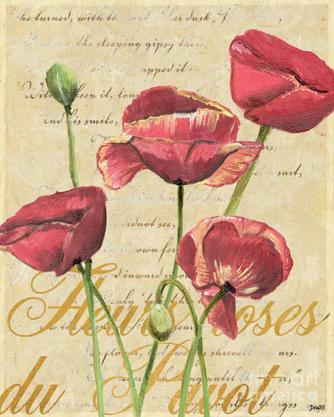 French Pink Poppies 2 Poster