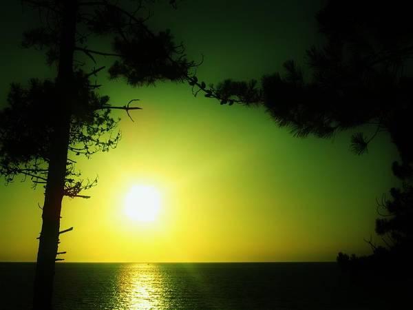 Galician Green Sunset 2 Poster