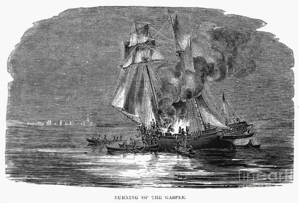 Gaspee Burning, 1772 Poster