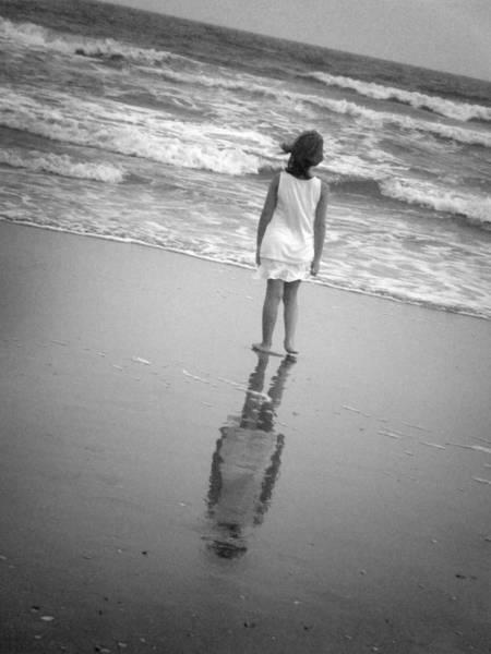 Girl By Ocean Poster