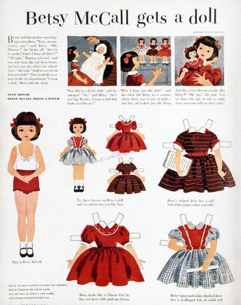 Girls Fashions, 1952 Poster