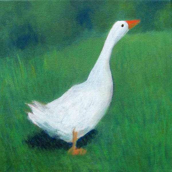 Goose On Green Poster