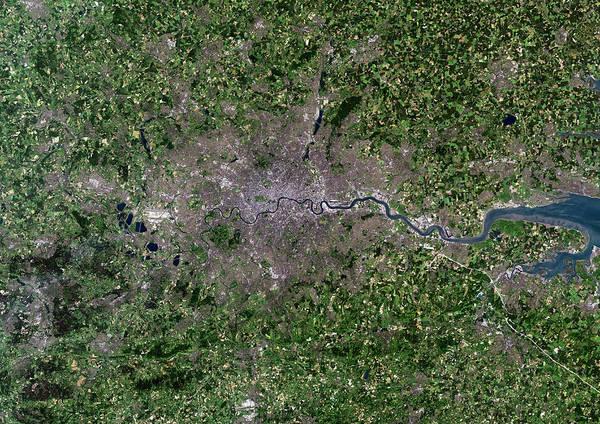 Greater London, Satellite Image Poster