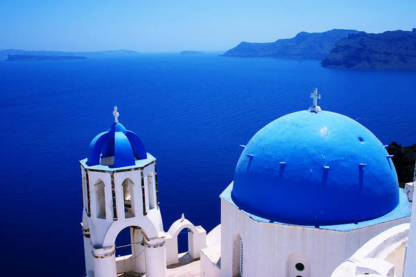 Greek Blue Poster
