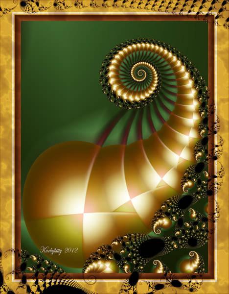 Harlequin Spirals Poster