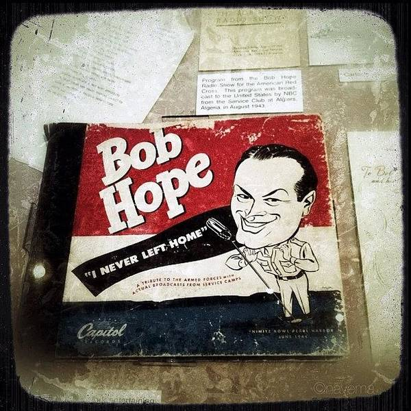 i Never Left Home By Bob Hope: His Poster