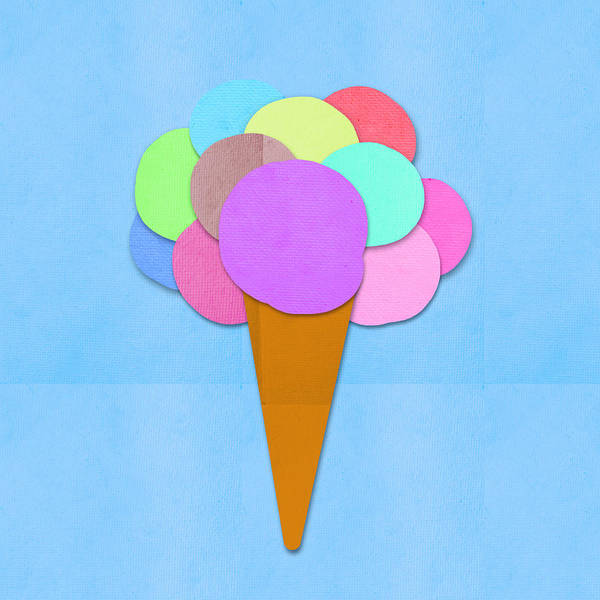 Ice Cream On Hand Made Paper Poster