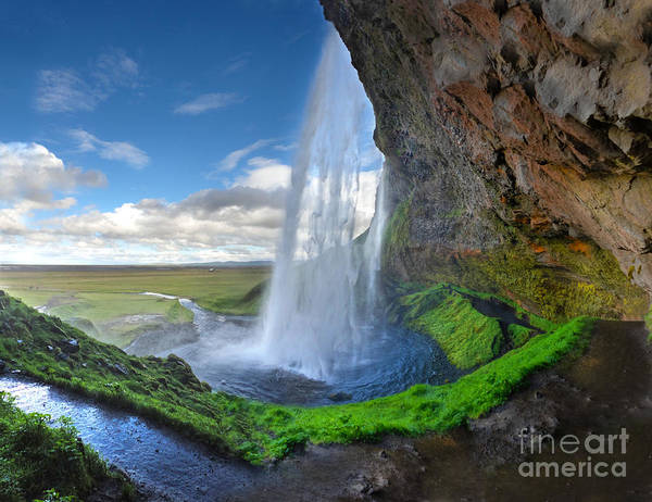 Iceland Waterfall Seljalandsfoss 02 Poster