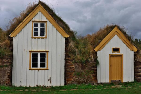 Icelandic Turf Houses Poster