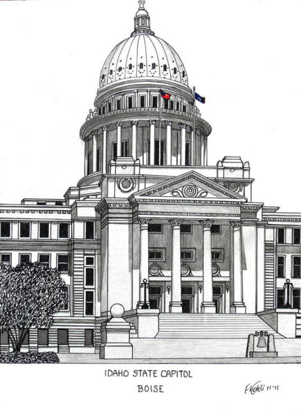 Idaho State Capitol Building Poster