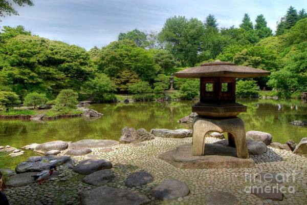 Poster featuring the photograph Japanese Garden -2 by Tad Kanazaki