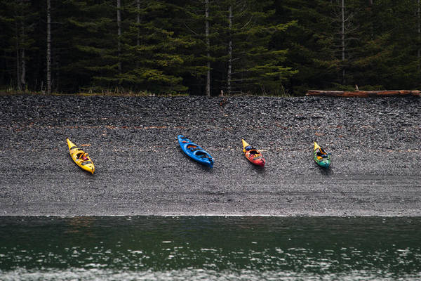 Kayak Shore Poster
