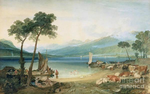 Lake Geneva And Mont Blanc Poster