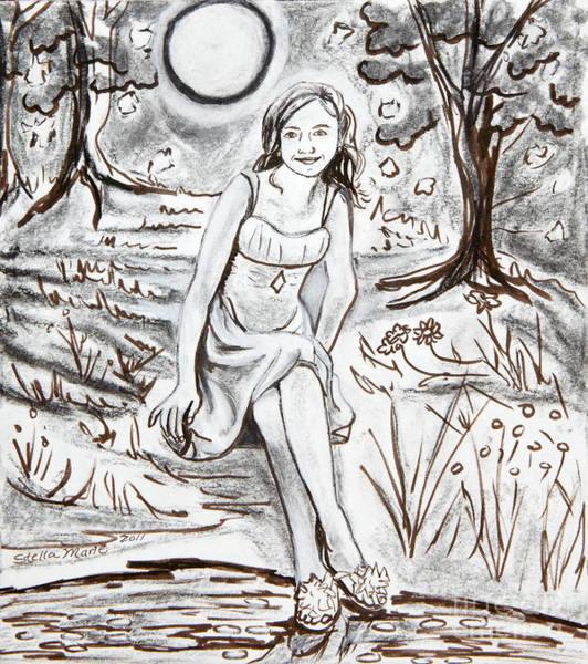 Lauren At Theater Class Poster
