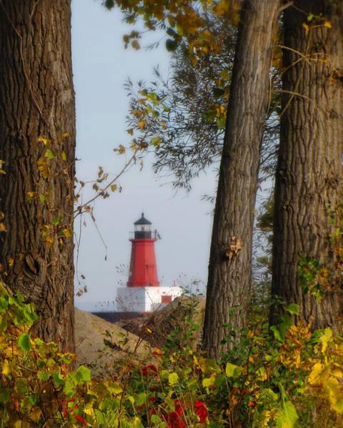 Lighthouse Mist Poster