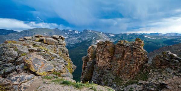 Lightning In Rocky Mountain Poster