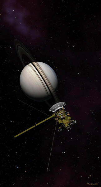 Lone Sentinel At Saturn  Poster
