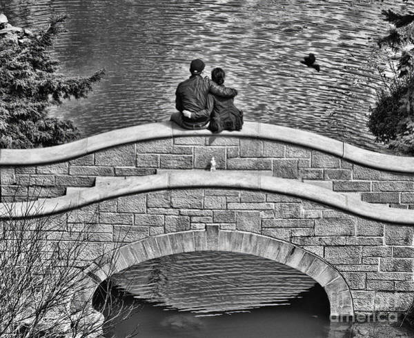 Lovers On A Bridge  Poster