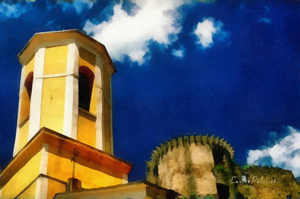 Madrignano Castello E Campanile Poster