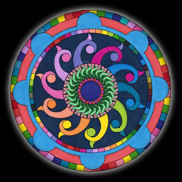 Mandala Meditation I V1 Poster