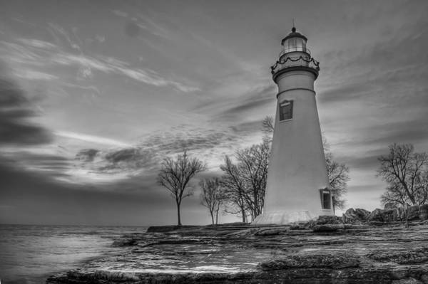 Marblehead Lighthouse In Black And White Poster