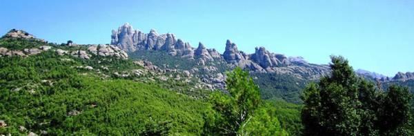 Montserrat Mountain Range Panoramic View Near Barcelona Spain Poster