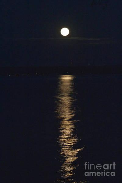 Moon Over Seneca Lake Poster