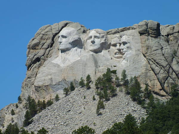Mount Rushmore From A Different View Poster