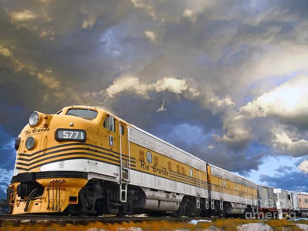Mountain Train Poster