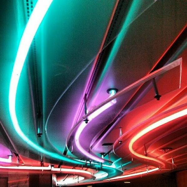 #neon #light #tubular #lighting Poster