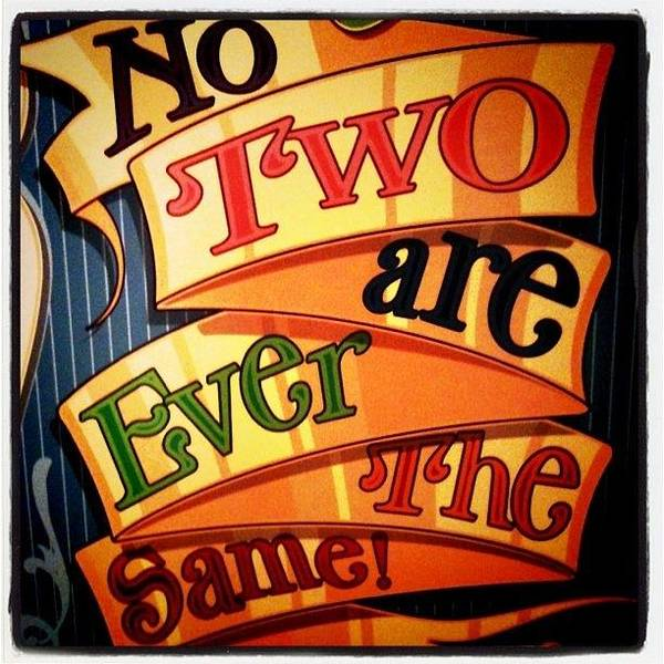 No Two Are Ever The Same Poster