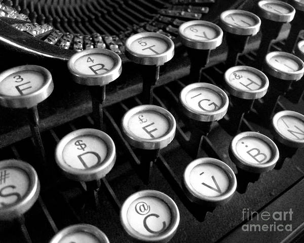 Poster featuring the photograph Old Typewriter by Kate McKenna