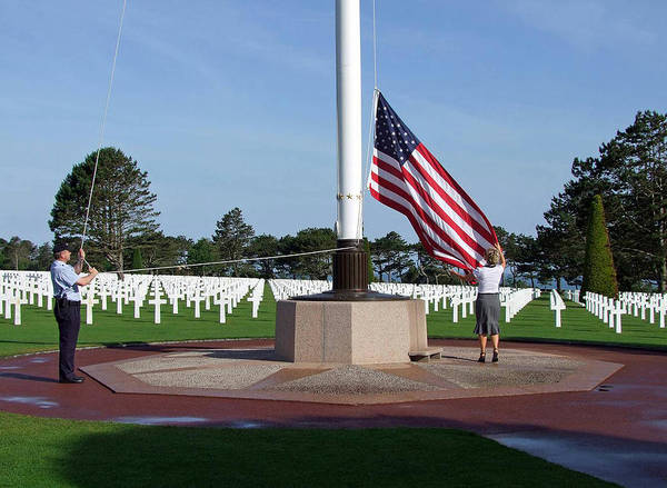 Omaha Beach Wwii American Cemetery Poster