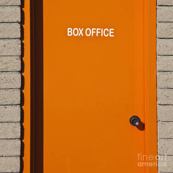 Orange Box Office Door Poster