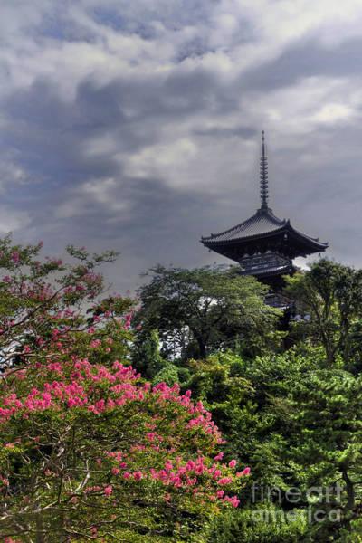 Poster featuring the photograph Pagoda by Tad Kanazaki