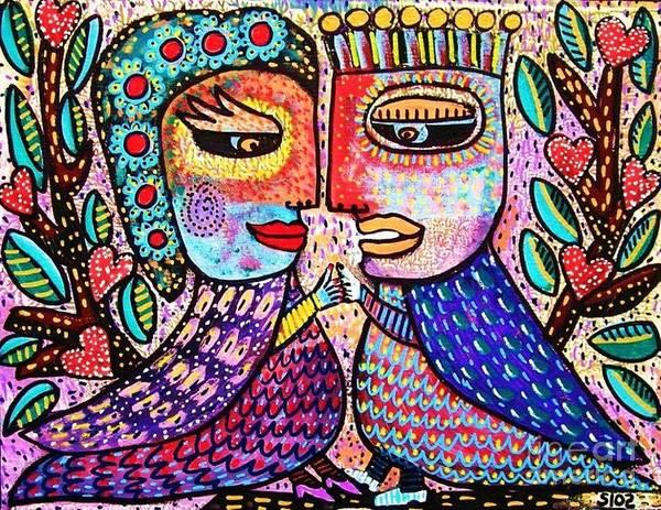 Paradise Lovebirds Poster