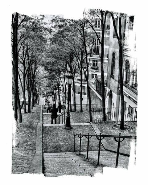 Paris Stairway Poster