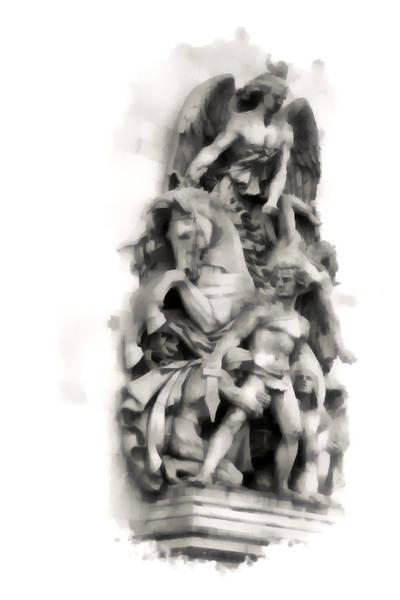 Paris Statuary Poster