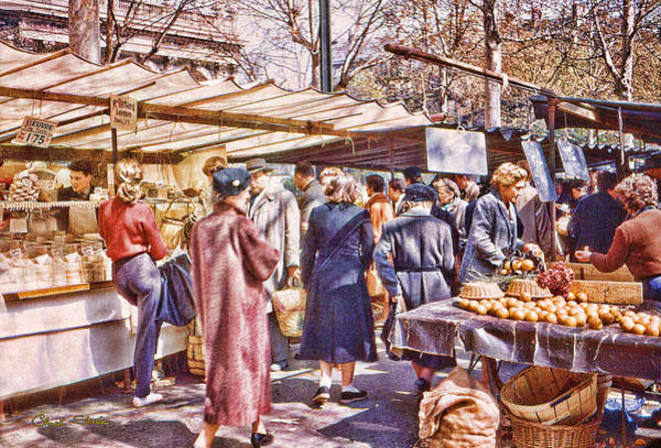 Parisian Market 1954 Poster